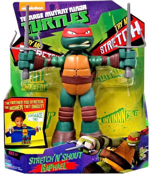 Teenage Mutant Ninja Turtles Nickelodeon Stretch 'N' Shout Raphael Action Figure