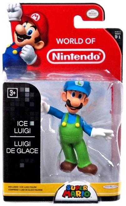 World of Nintendo Super Mario Ice Luigi 2.5-Inch Mini Figure