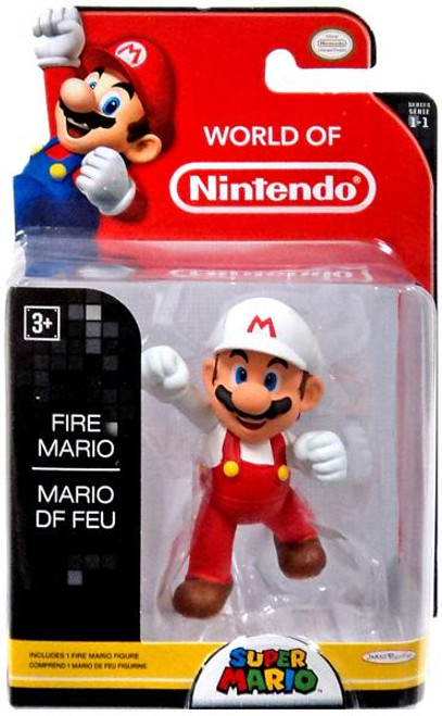 World of Nintendo Super Mario Fire Mario 2.5-Inch Mini Figure