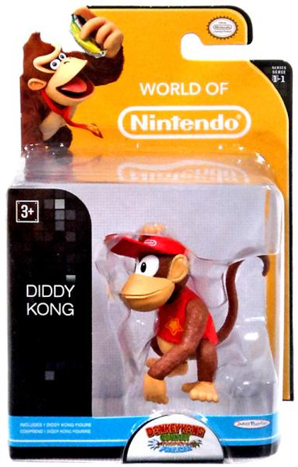 World of Nintendo Donkey Kong Country Tropical Freeze Diddy Kong 2.5-Inch Mini Figure