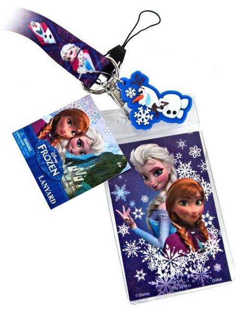 Disney Frozen Anna, Elsa & Olaf Lanyard Keychain [Purple]