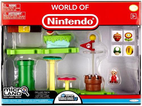 World of Nintendo Super Mario Bros. U Micro Land Acorn Plains Deluxe Playset