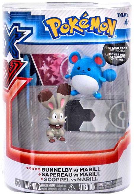 Pokemon XY Bunnelby vs Marill Figure 2-Pack
