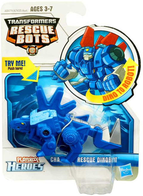 """Transformers Playskool Heroes Rescue Bots Chase The Rescue Dinobot 4"""" Action Figure"""