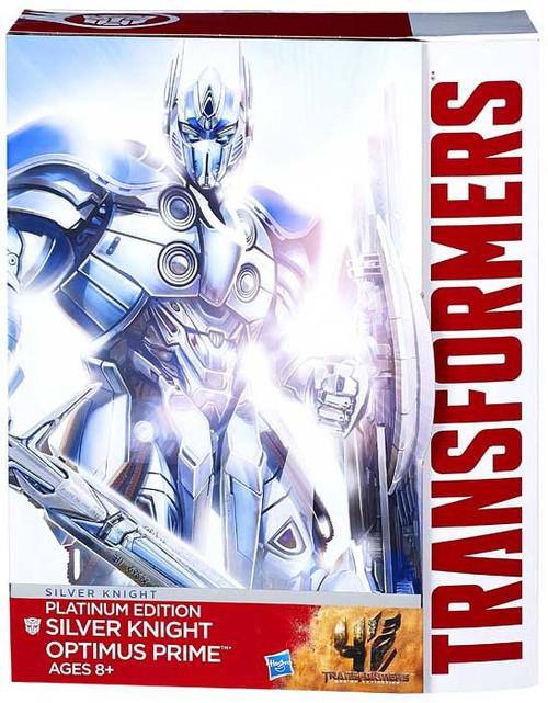 Transformers Platinum Edition Optimus Prime Exclusive Action Figure [Silver Knight]