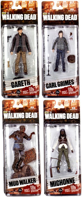 McFarlane Toys The Walking Dead AMC TV Series 7 Mud Walker, Carl Grimes, Michonne & Gareth Action Figures