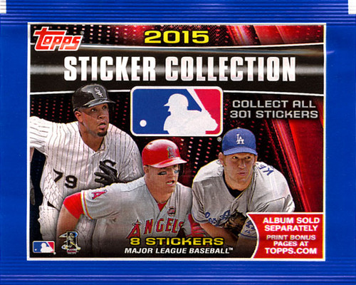 MLB Topps 2015 Baseball Sticker Collection Pack