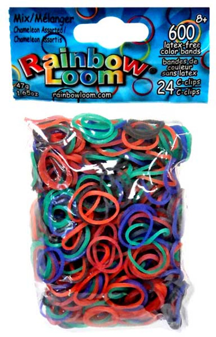 Rainbow Loom Chameleon Rubber Bands Refill Pack [600 Count]