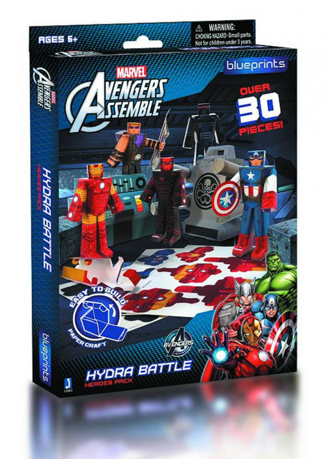 Marvel Avengers Assemble Papercraft Hydra Battle Heroes Pack