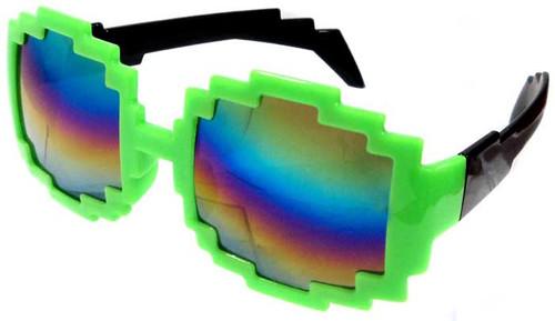 Minecraft Pixelated Mirror Sunglasses Accessory [Green]