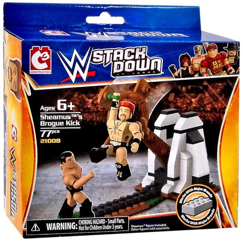 WWE Wrestling C3 Construction StackDown Sheamus's Brogue Kick Playset
