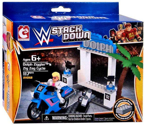 WWE Wrestling C3 Construction StackDown Dolph Ziggler's Zig Zag Cycle Playset