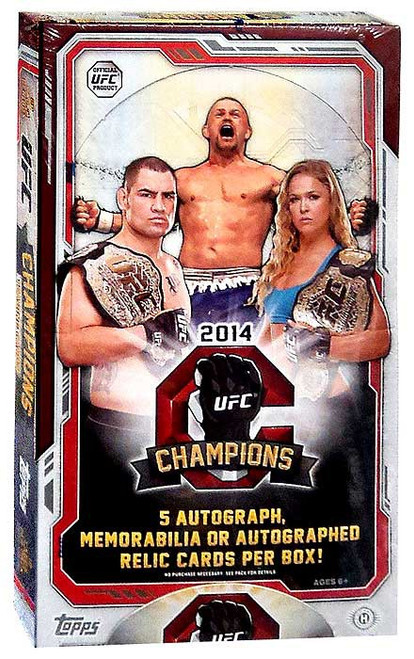 UFC Ultimate Fighting Championship 2014 Champions Trading Card Box [5 Autograph OR Memorabilia OR Relic Cards!]