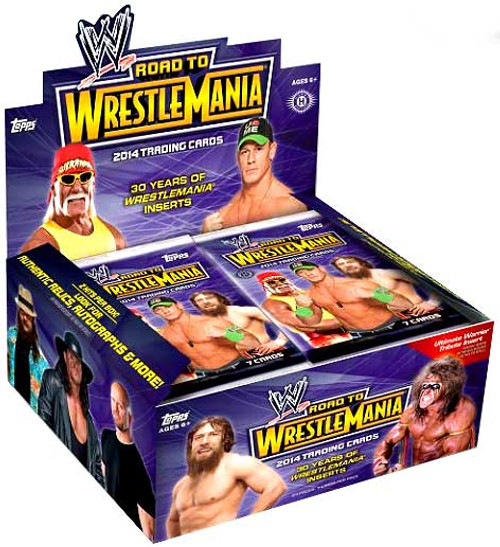 WWE Wrestling Topps 2014 Road to WrestleMania Trading Card HOBBY Box [24 Packs]