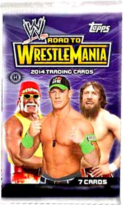 WWE Wrestling Topps 2014 Road to WrestleMania Trading Card HOBBY Pack [7 Cards!]