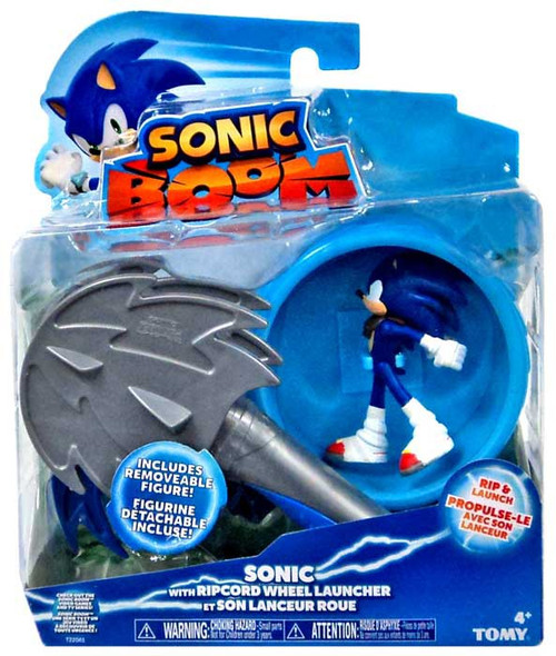 Sonic The Hedgehog Sonic Boom Ripcord Launcher Sonic Action Figure [Ripcord Wheel Launcher]