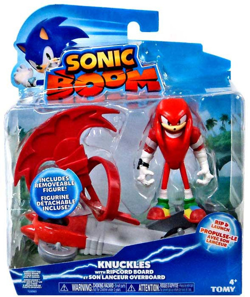 Sonic The Hedgehog Sonic Boom Ripcord Launcher Knuckles Action Figure [Ripcord Board]