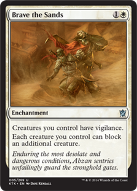 MtG Khans of Tarkir Uncommon Brave the Sands #5