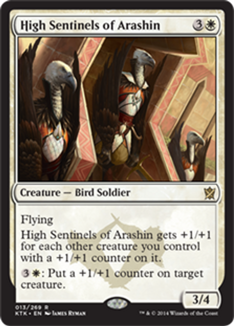MtG Khans of Tarkir Rare High Sentinels of Arashin #13