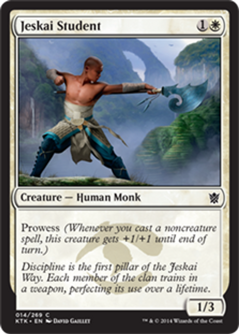 MtG Khans of Tarkir Common Jeskai Student #14