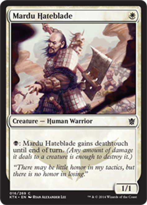 MtG Khans of Tarkir Common Mardu Hateblade #16