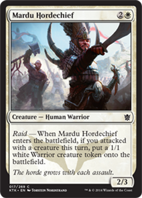 MtG Khans of Tarkir Common Mardu Hordechief #17