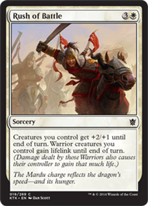 MtG Khans of Tarkir Common Rush of Battle #19