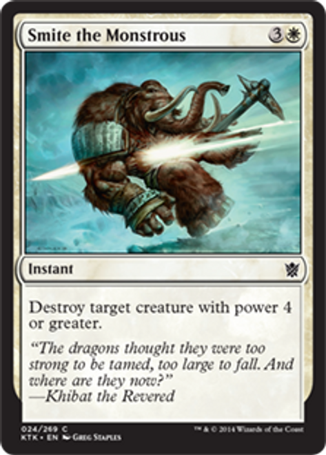 MtG Khans of Tarkir Common Smite the Monstrous #24