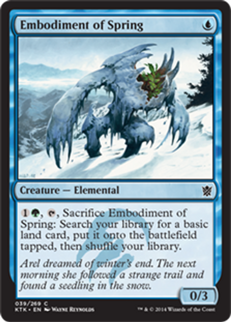 MtG Khans of Tarkir Common Embodiment of Spring #39