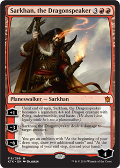 MtG Khans of Tarkir Mythic Rare Sarkhan, the Dragonspeaker #119