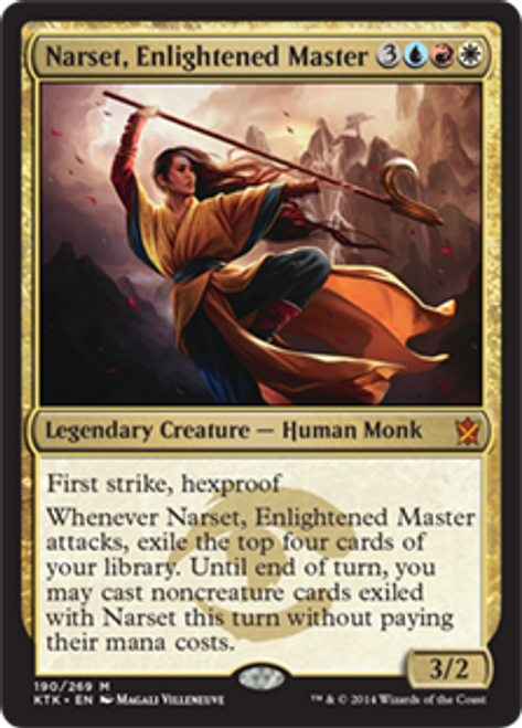 MtG Khans of Tarkir Mythic Rare Narset, Enlightened Master #190