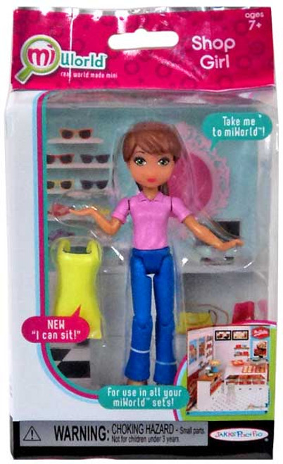 MiWorld Shop Girl Action Figure [Pink Top, Yellow Apron]