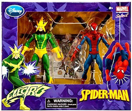 Disney Marvel Select Electro & Spider-Man Exclusive Action Figure 2-Pack
