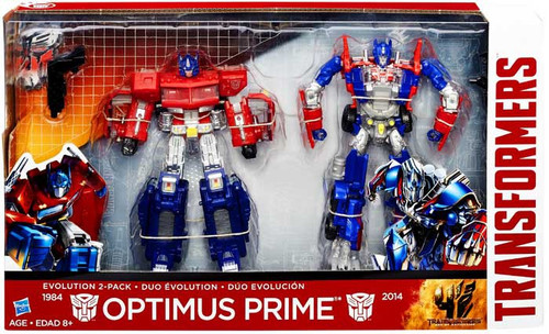 Transformers Age of Extinction Duo Evolution Optimus Prime Exclusive Action Figure 2-Pack