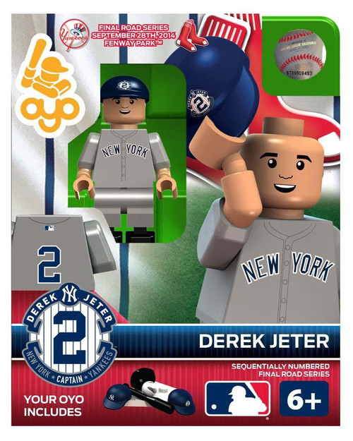 MLB New York Yankees Final Road Series Derek Jeter Minifigure Set [September 28th 2014 Fenway Partk]