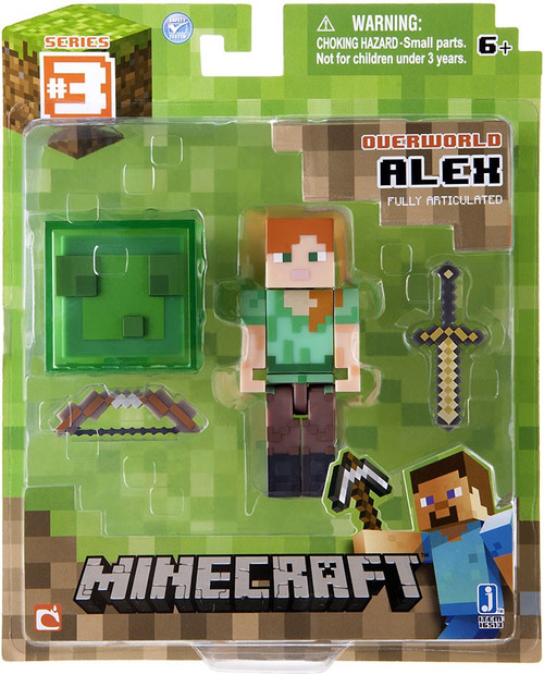 Minecraft Series 3 Alex (Slime Box Accessory) Action Figure [Overworld]
