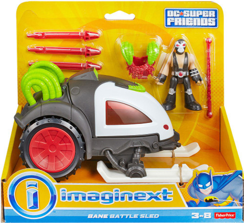 Fisher Price DC Super Friends Imaginext Bane Battle Sled Figure Set