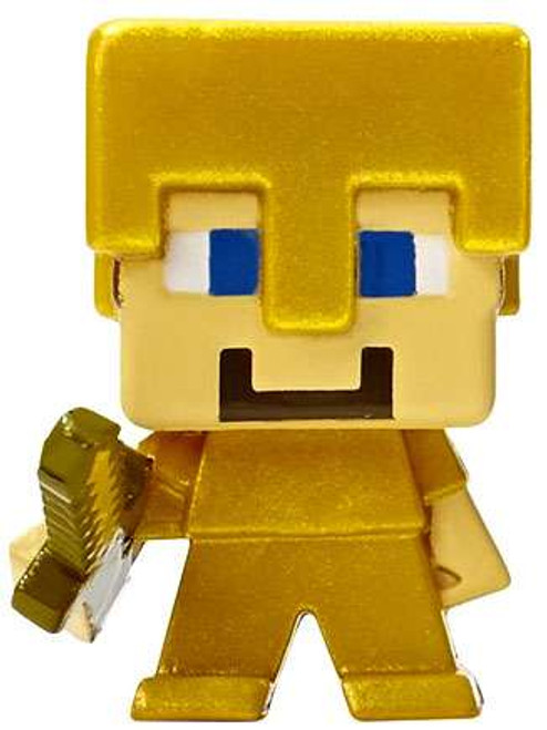 Minecraft Grass Series 1 Steve 1-Inch Mini Figure [Gold Armor Loose]