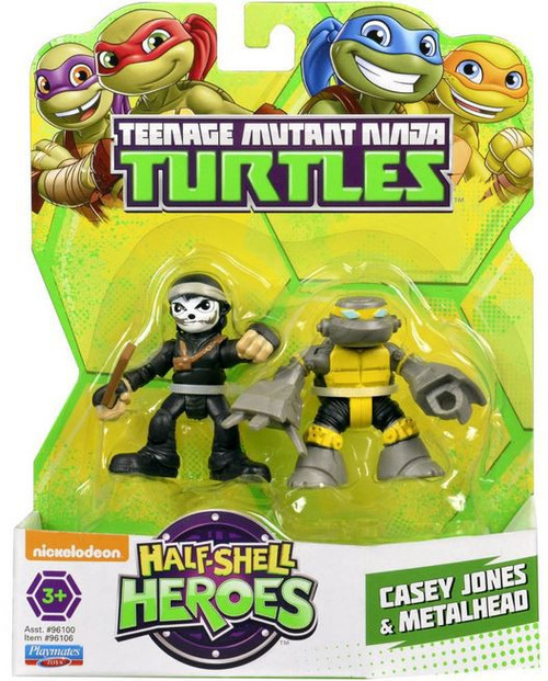 Teenage Mutant Ninja Turtles TMNT Half Shell Heroes Casey Jones & Metalhead Action Figure 2-Pack
