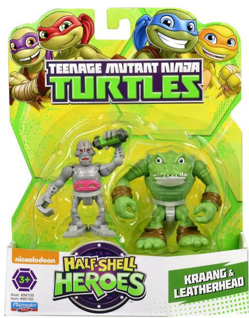 Teenage Mutant Ninja Turtles TMNT Half Shell Heroes Kraang & Leatherhead Action Figure 2-Pack