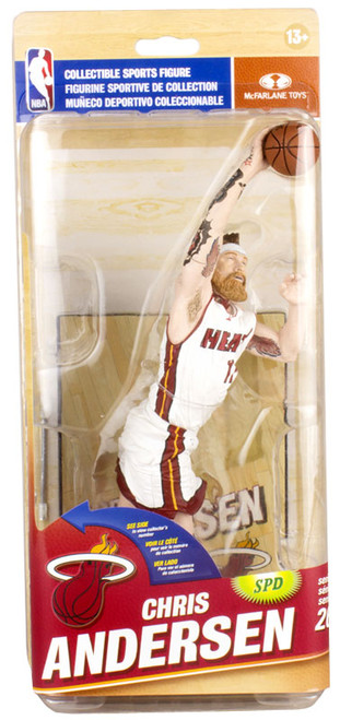 McFarlane Toys NBA Miami Heat Sports Picks Series 26 Chris Andersen Collector Level Action Figure [White Home Uniform]