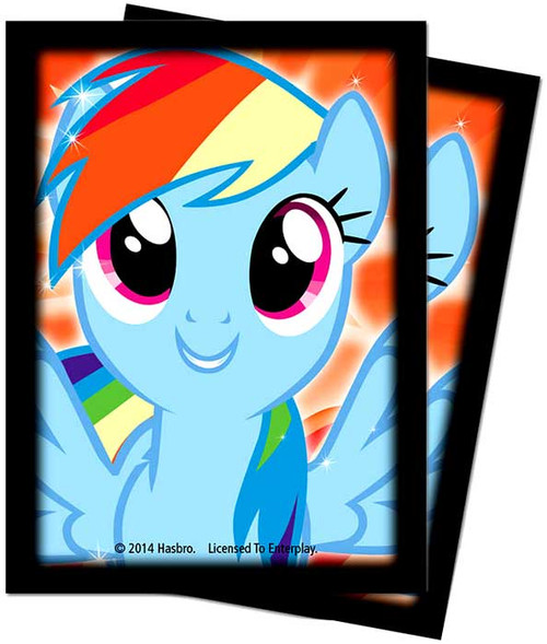Ultra Pro My Little Pony Trading Card Game Rainbow Dash Deck Protector Standard Card Sleeves