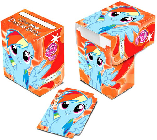 Ultra Pro My Little Pony Card Supplies Rainbow Dash Deck Box [Orange]