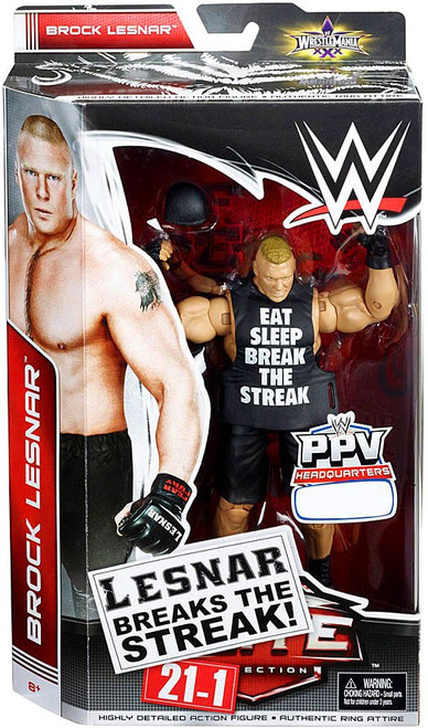 WWE Wrestling Elite Collection Pay Per View Brock Lesnar Exclusive Action Figure [Breaks the Streak]