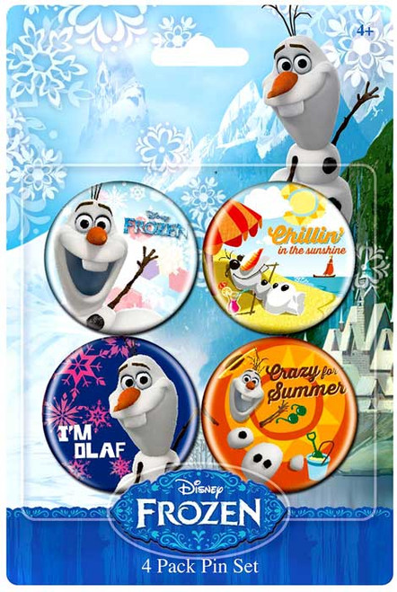 Disney Frozen Olaf 1.5-Inch Buttons 4-Pack