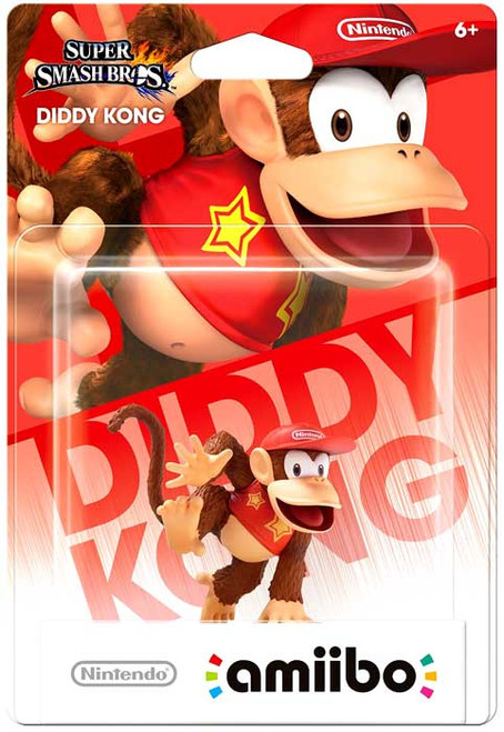 Nintendo Super Mario Super Smash Bros Amiibo Diddy Kong Mini Figure [Super Smash Bros]