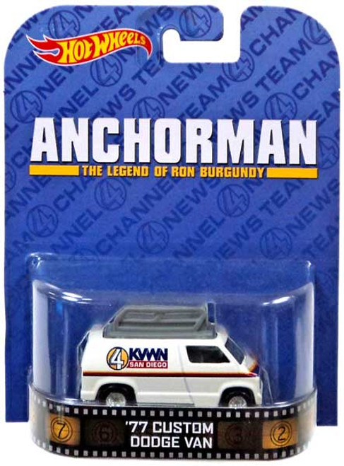 Hot Wheels Anchorman HW Retro Entertainment '77 Custom Dodge Van Diecast Car