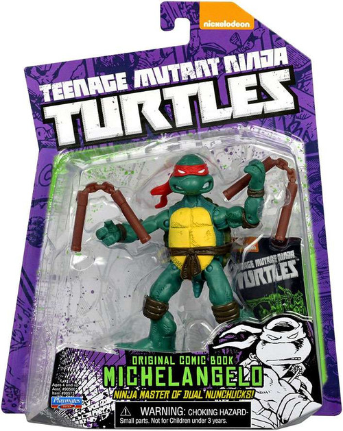 Teenage Mutant Ninja Turtles Nickelodeon Michelangelo Action FIgure [Original Comic Book]