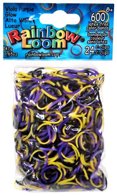 Rainbow Loom Viola Purple Glow Rubber Bands Refill Pack [600 Count]