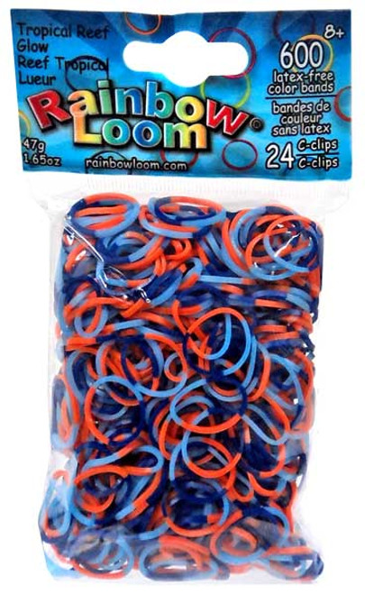 Rainbow Loom Tropical Reef Glow Rubber Bands Refill Pack [600 ct]